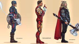 Los perfiles de los héroes más famosos de Marvel