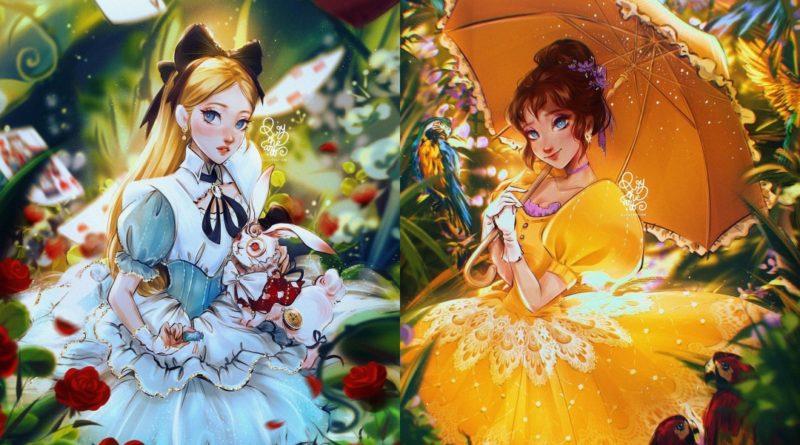Los fan arts de Princesas Disney de Roy The Art