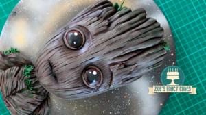 El pastel más espectacular de Baby Groot