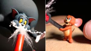 Crea tus propias figuras de Tom y Jerry con arcilla fría