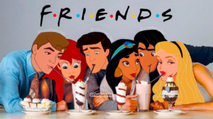 Los personajes de Friends al más puro estilo Disney