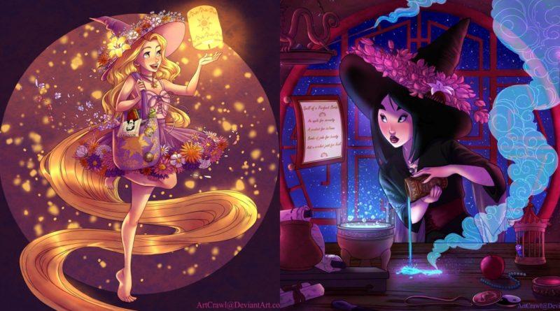 Las princesas Disney como brujas
