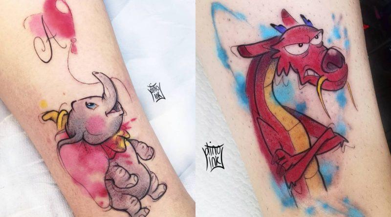 Los tatuajes a todo color de Dinoink