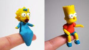 Puedes tener figuras de Los Simpsons de arcilla polimérica