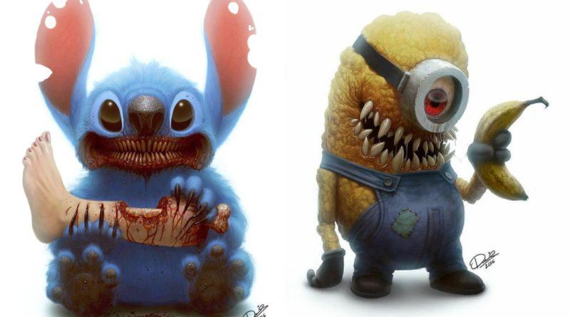 La versión más aterradora de personajes de tu infancia