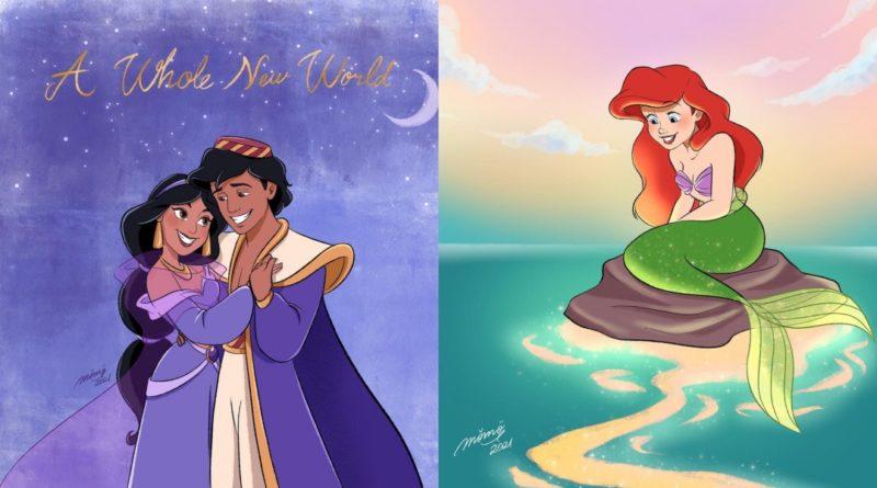 Las increíbles ilustraciones de Princesas Disney de Momo