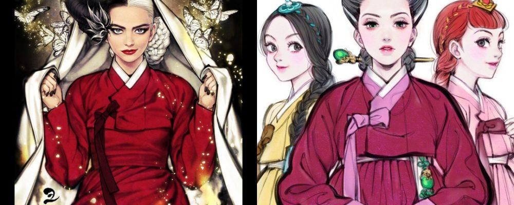 Los personajes de Disney al más puro estilo japonés