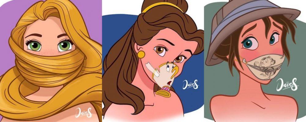 Así serían las mascarillas de las princesas Disney