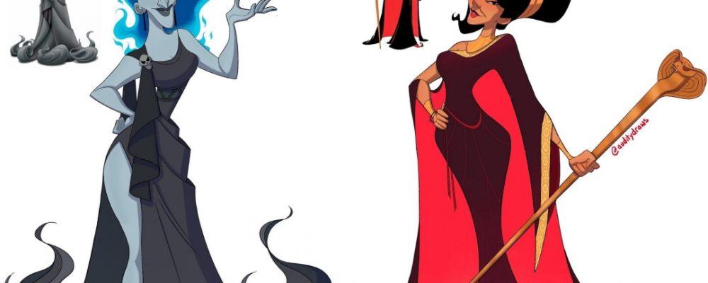 Artista princesas villanos Disney Portada