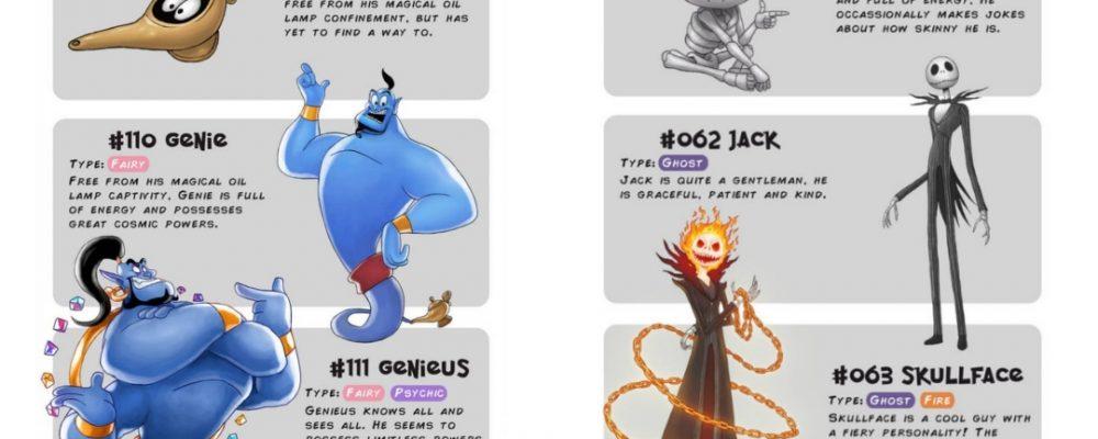 Pokémon Disney fusión artista Portada