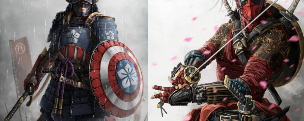 Samuráis Marvel Artista Portada