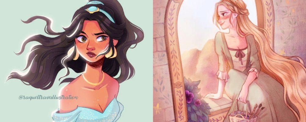 Los fan arts de Disney de Raquel