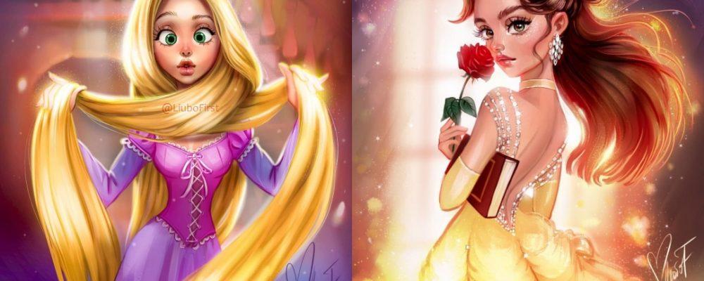 Increíbles ilustraciones de Princesas Disney