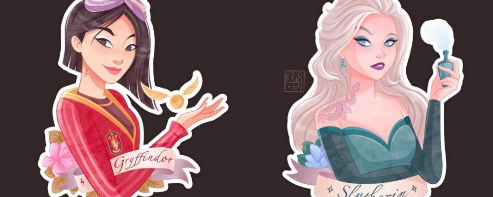 Princesas Disney si estuvieran en Hogwarts