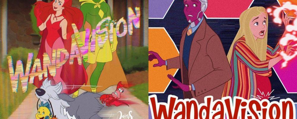 Los personajes de WandaVision si fueran de Disney