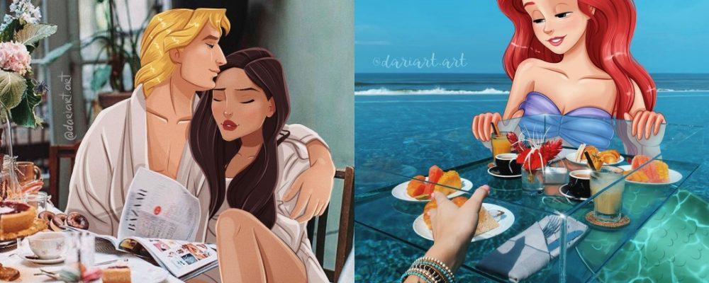 Las princesas de Disney si vivieran en nuestra época